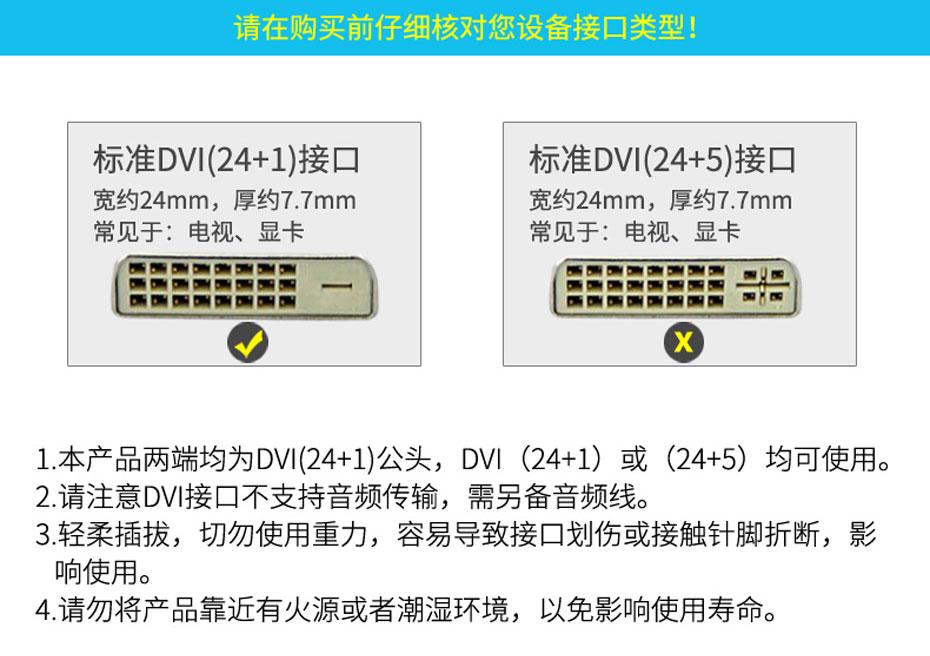 DVI线接口分辨