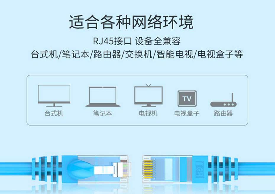 六类非屏蔽网线适合多种网络环境