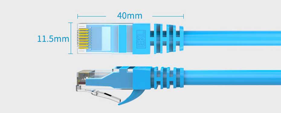 六类非屏蔽网线水晶头尺寸
