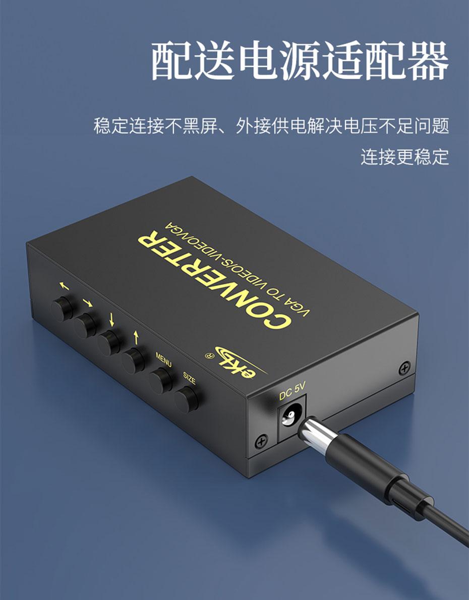 VGA转AV/S端子转换器1801采用原装进口芯片