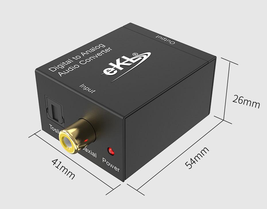 S/PDIF数字光纤同轴转模拟转换器DAA长54mm;宽41mm;高26mm