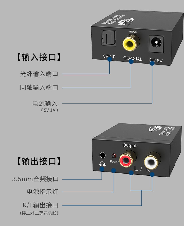 SPDIF数字音频转换器DAM接口说明