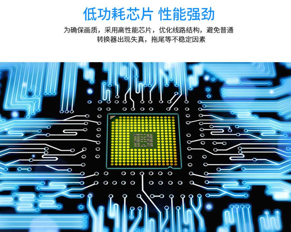 HDMI转VGA转换器带音频HV02使用低功耗芯片