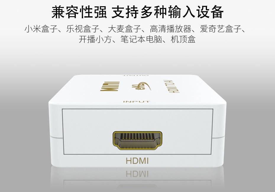 HDMI转AV转换器MiniHAV兼容多种输入设备