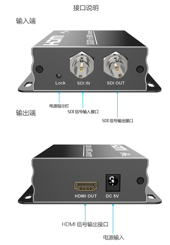 sdi转hdmi转换器SDH接口说明
