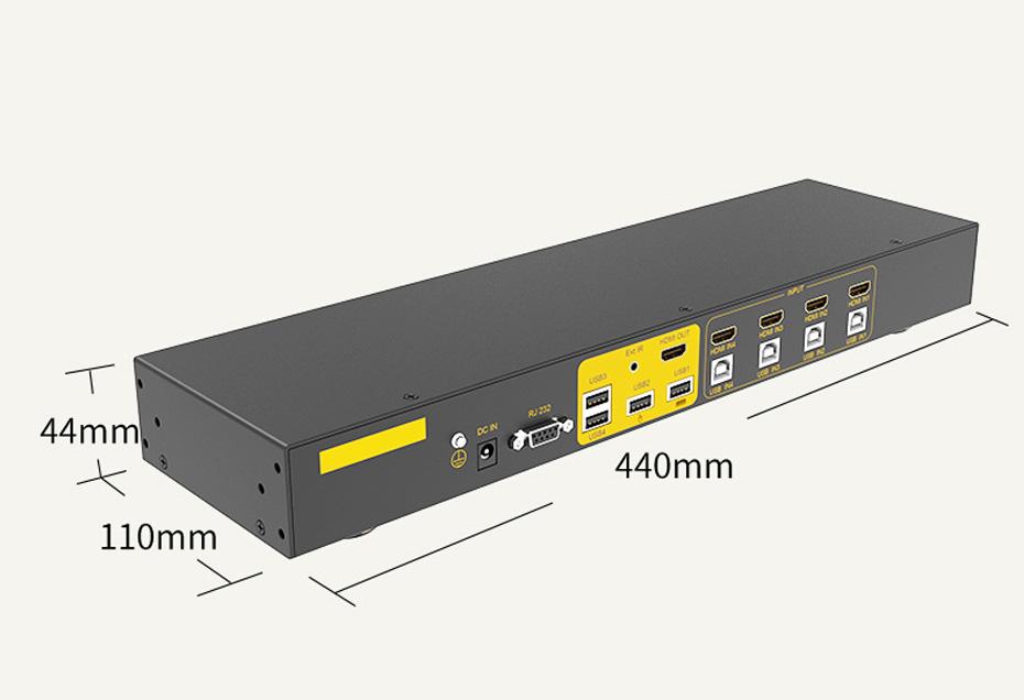 HDMI KVM切换器4进1出41HK长440mm;宽110mm;高44mm