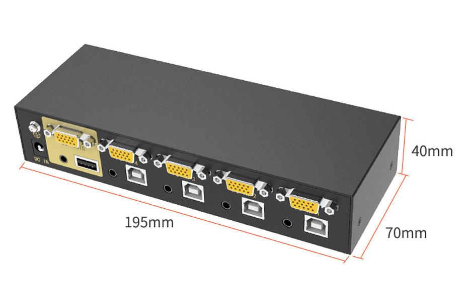 VGA KVM切换器4口41u长:1955mm;宽:70mm;高:40mm
