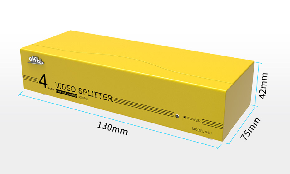 VGA高频分配器一进四出94H长130mm;宽75mm;高42mm