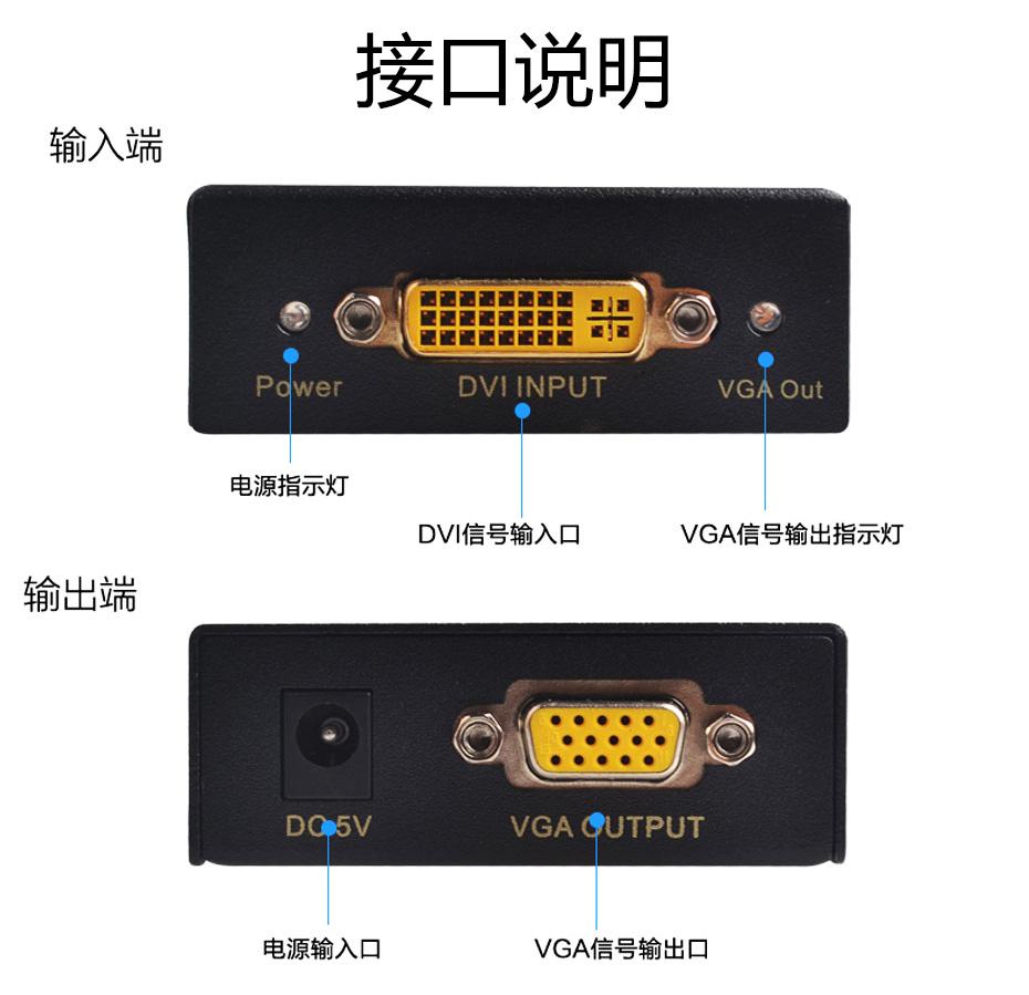 DVI转VGA转换器DV接口说明