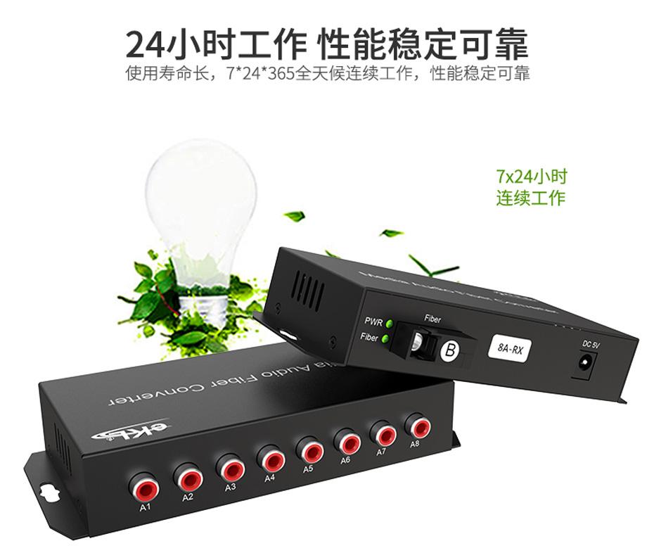 20千米8路单向音频光端机8ZA工作稳定