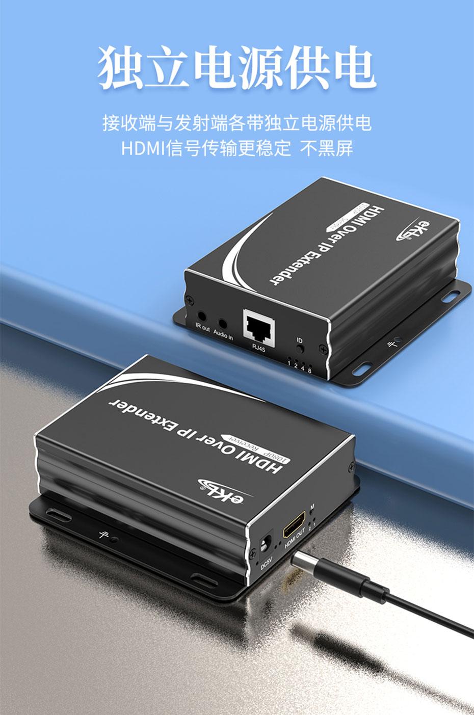 150米HDMI网络延长器1对多HE150支持1080p高清分辨率