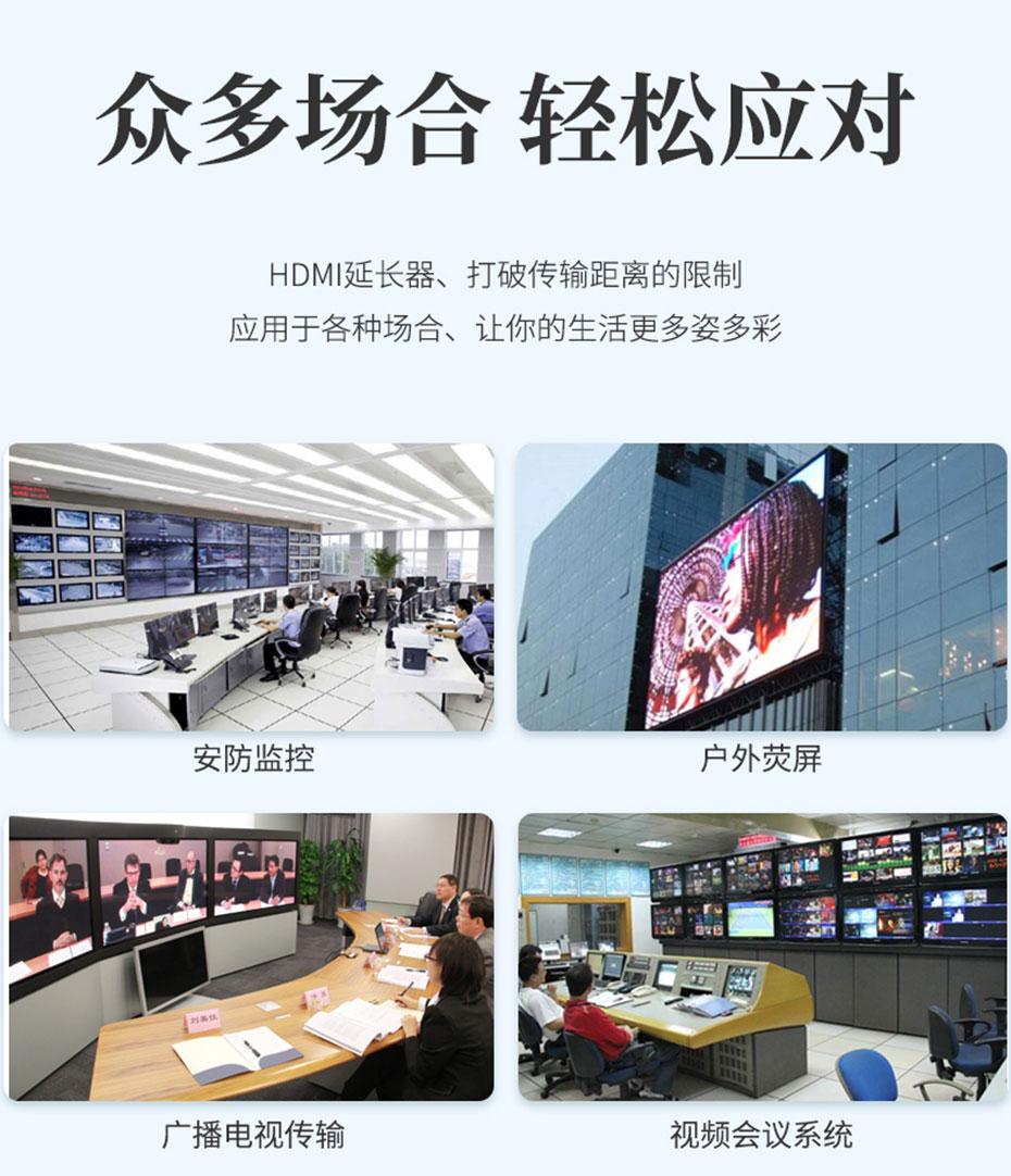 HDMI KVM延长器1对多/多对多HU150部分应用场景