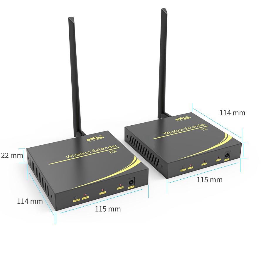 100米HDMI无线延长器WE100长:115mm;宽:114mm;高:22mm