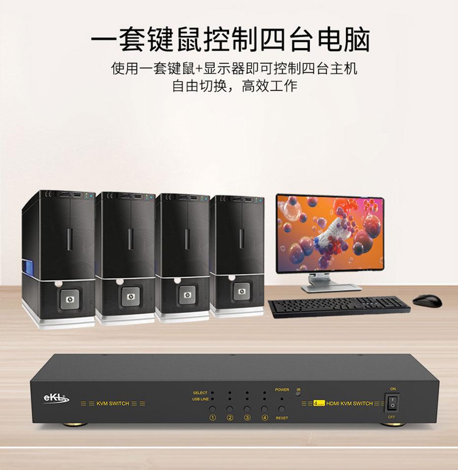 4口HDMI KVM切换器41HK