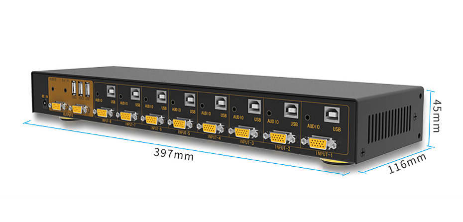 KVM USB打印机共享器81UA