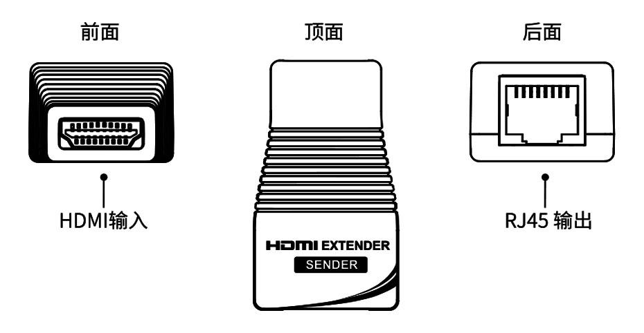 HDMI延长器EX01发射端接口