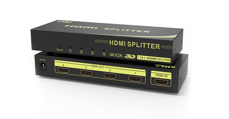 视频分配器-以4口HDMI分配器HS104为例