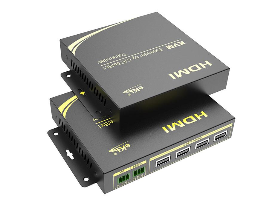 100米HDMI KVM单网线延长器HU100实物图