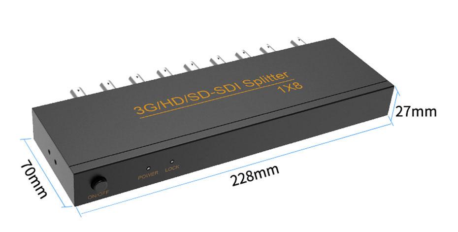 SDI分配器8口SD108长228mm;宽70mm;高27mm