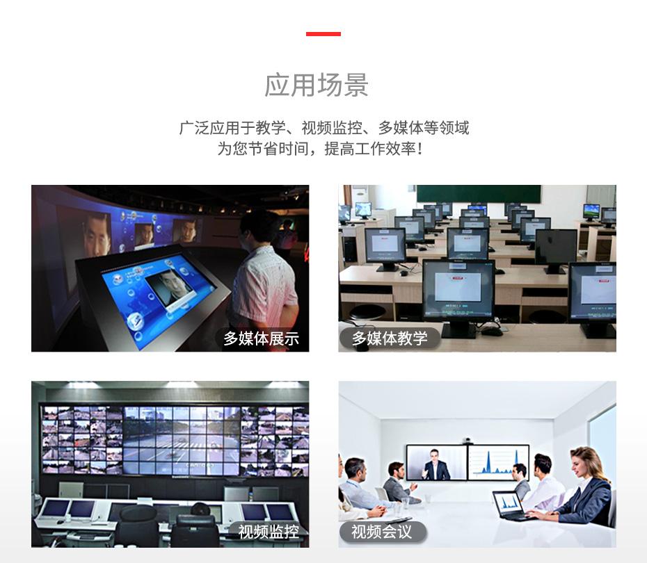 HDMI2.0分配器一进四出UH04应用场景