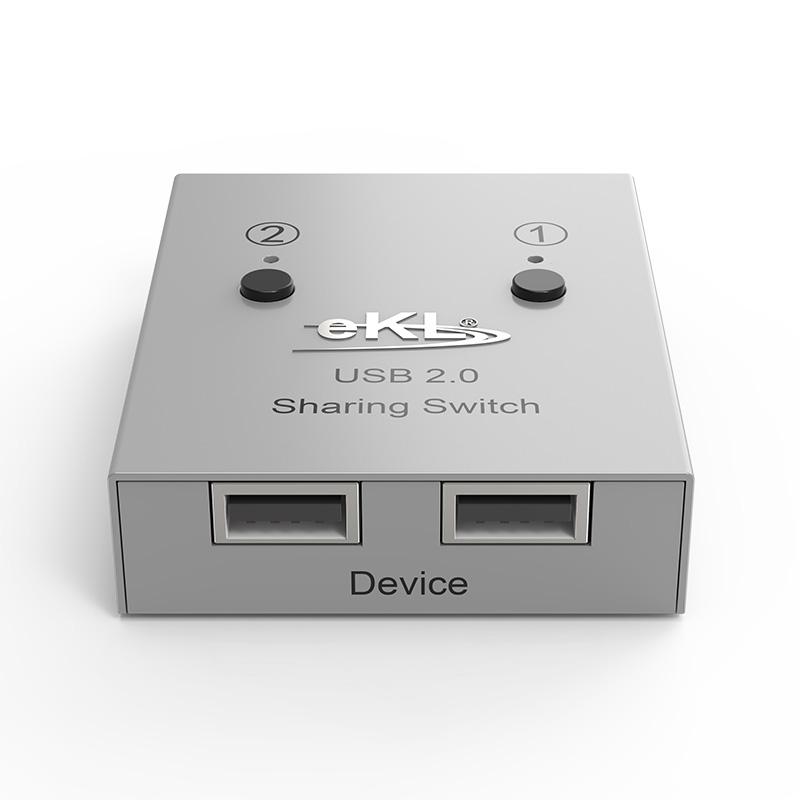 2口USB打印机共享器02UA