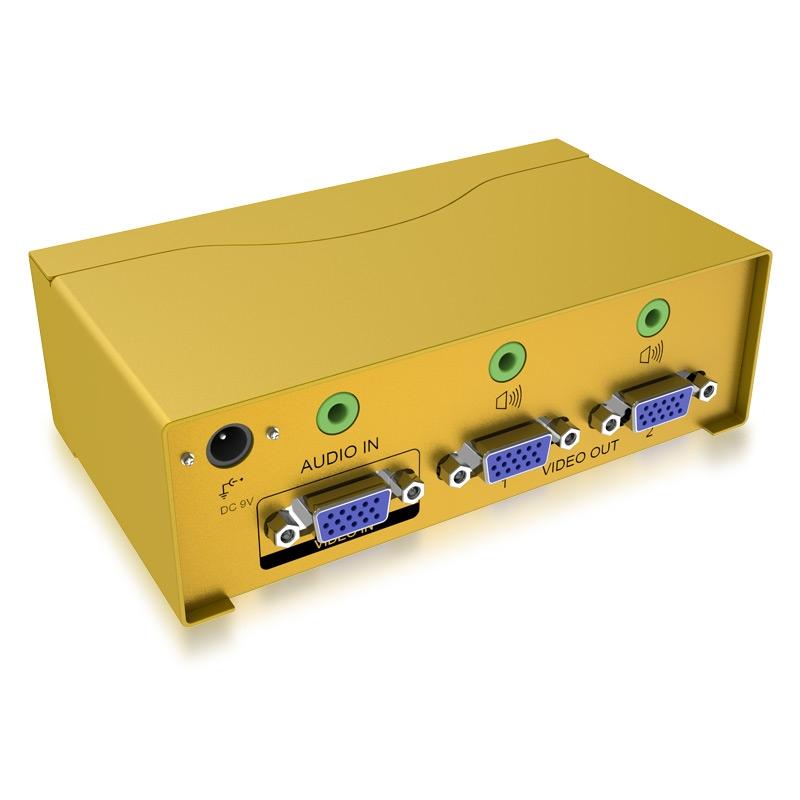 VGA高频分配器一进二出H602A