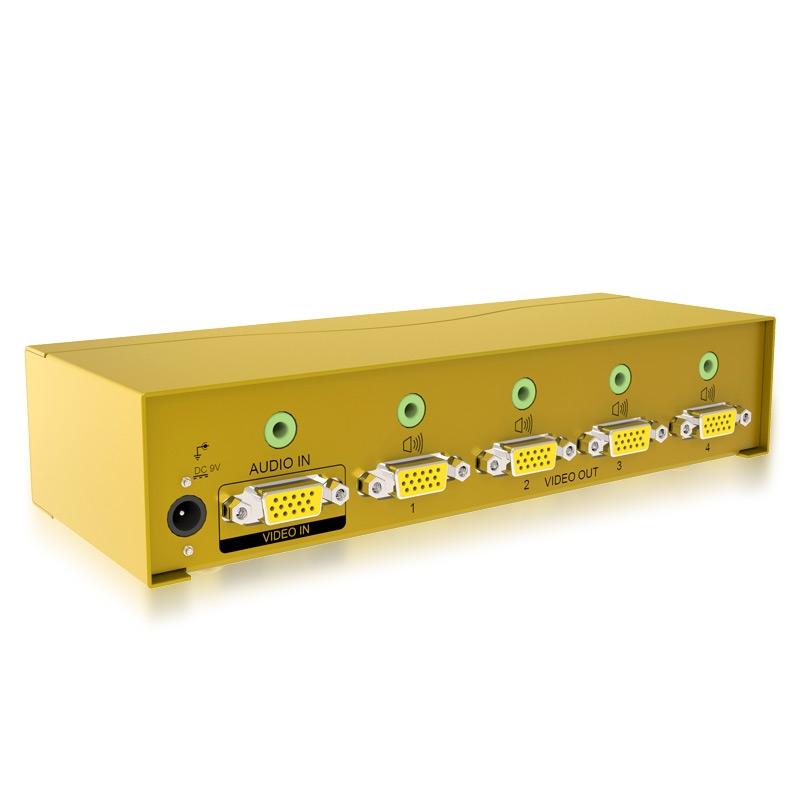 600MHz 一进四出vga高频分配器H604A
